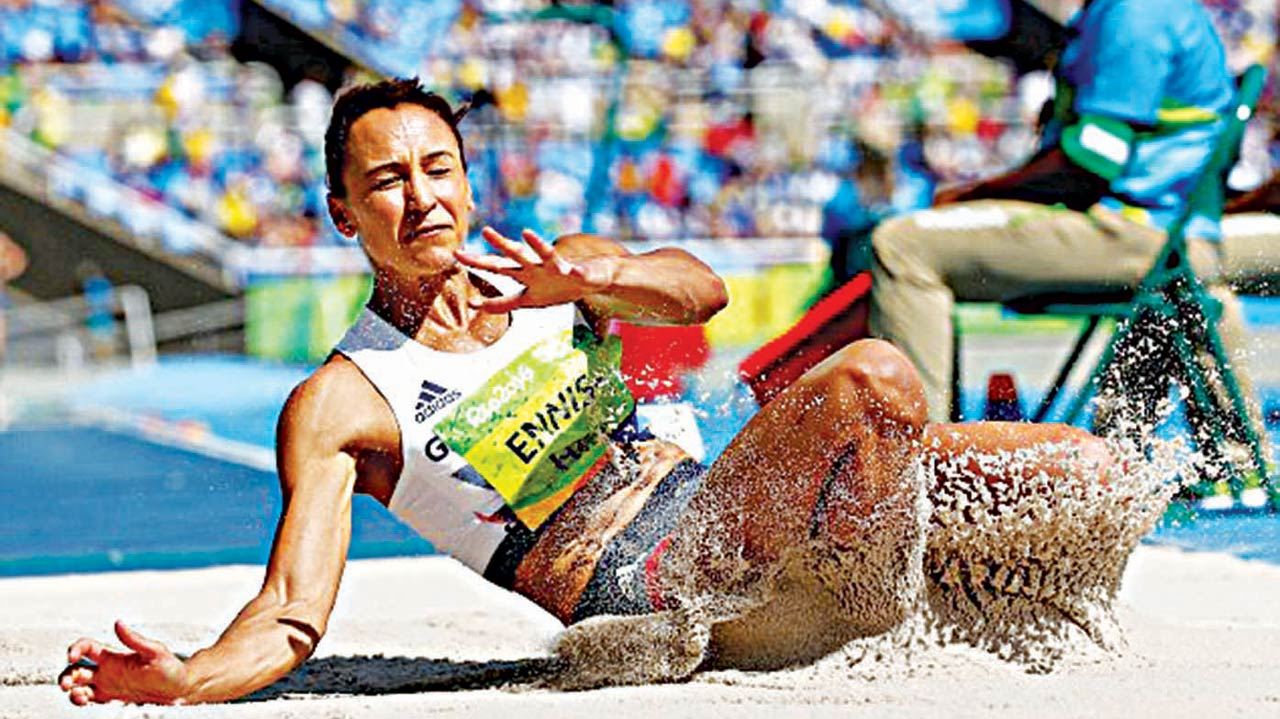 Jessica Ennis-Hill lost her heptathlon lead at Rio 2016 Olympics despite producing a solid long jump.