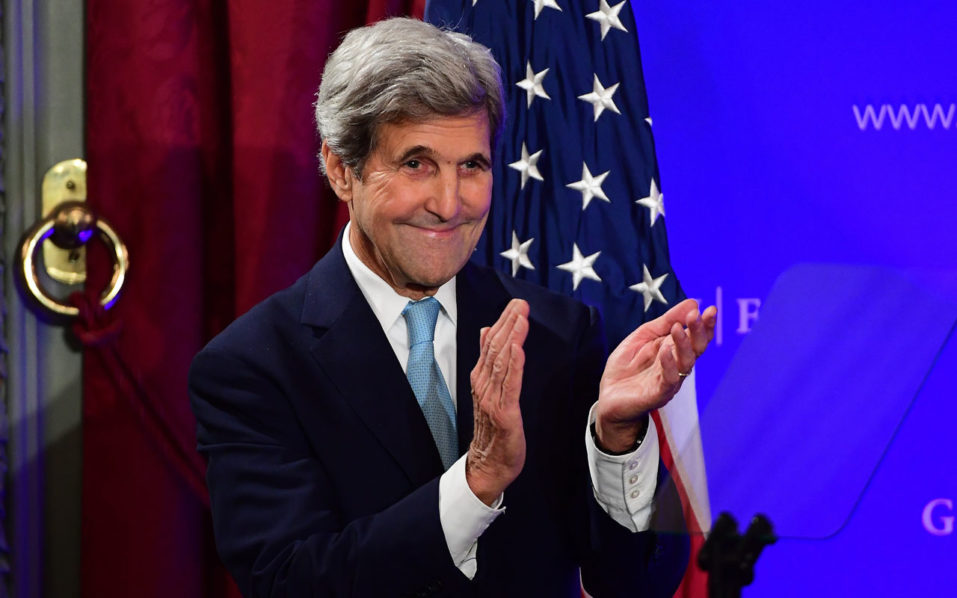 US State Secretary John Kerry / AFP PHOTO / EMMANUEL DUNAND