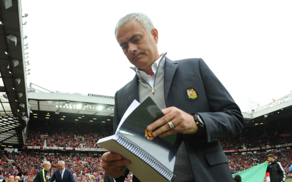 Manchester United's Portuguese manager Jose Mourinho  / AFP PHOTO / Anthony DEVLIN /