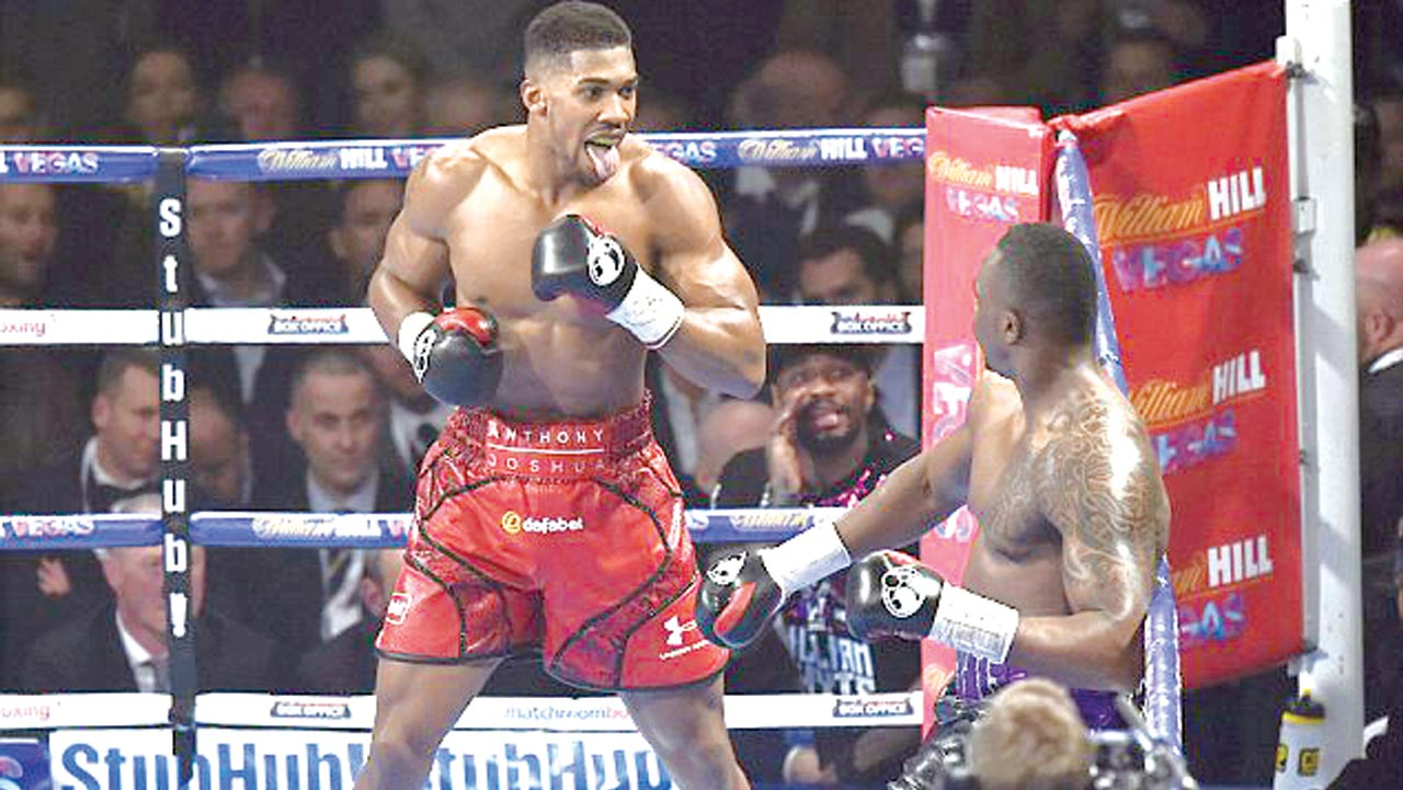 Nigerian-born British IBF heavyweight champion, Anthony Joshua, will meet former world champion, Wladmir Klitschko, in London… on December 10. 									               PHOTO: DAILYMAIL.CO.UK.