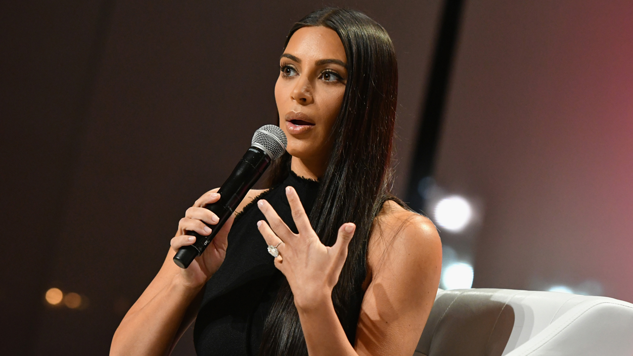 Kim Kardashian-West speaks at The Girls' Lounge dinner, giving visibility to women at Advertising Week 2016, at Pier 60 on September 27, 2016 in New York City. Slaven Vlasic/Getty Images for The Girls' Lounge/AFP