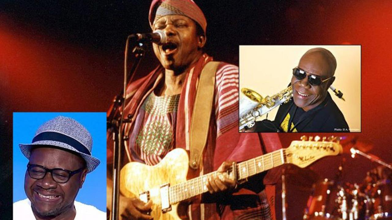 Left-Right, Papa Wemba, King Sunny Ade, Manu Dibango.  PHOTO:   NAN