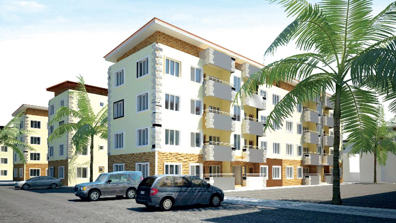 An illustration of housing units planned under the Lagos home ownership scheme