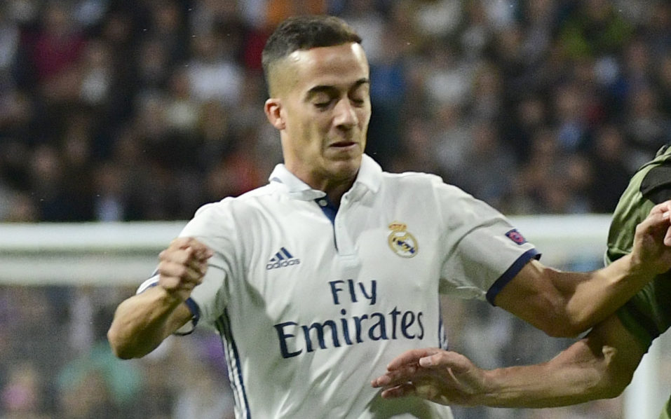 Real Madrid's forward Lucas Vazquez. / AFP PHOTO / PIERRE-PHILIPPE MARCOU