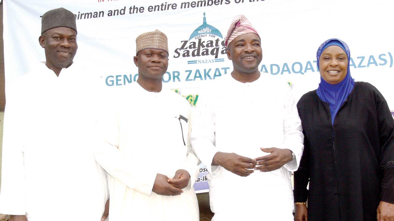 Alhaji Uthman Animashaun (left); Alhaji Daud Oniyide; Alhaji Niyi Yusuf; and Alhaja Bola Kupolati