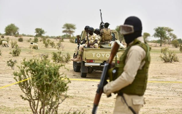 Niger troops patrol near Diffa on June 16, 2016 following attacks by Boko Haram fighters in the region /Issouf Sanogo (AFP/File)