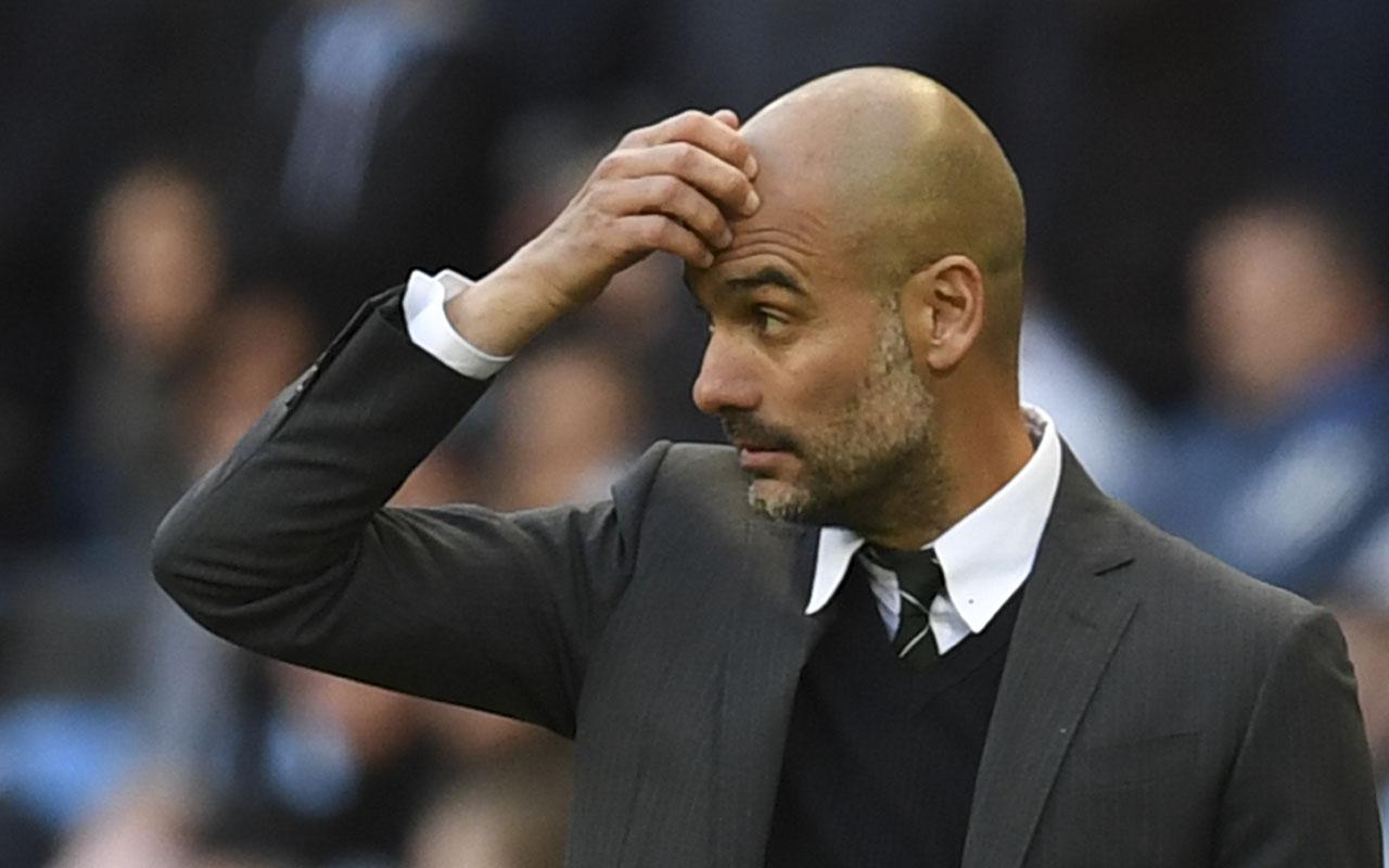 Manchester City's Spanish manager Pep Guardiola. AFP PHOTO / Paul ELLIS /