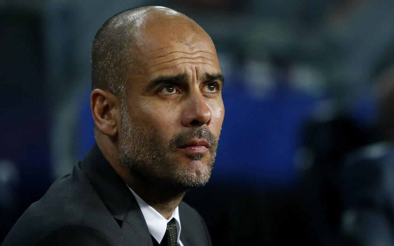 Manchester City's Spanish coach Pep Guardiola.  / AFP PHOTO / PAU BARRENA