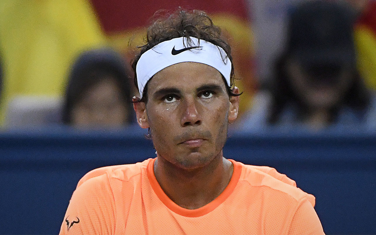 Rafael Nadal of Spain / AFP PHOTO / WANG ZHAO