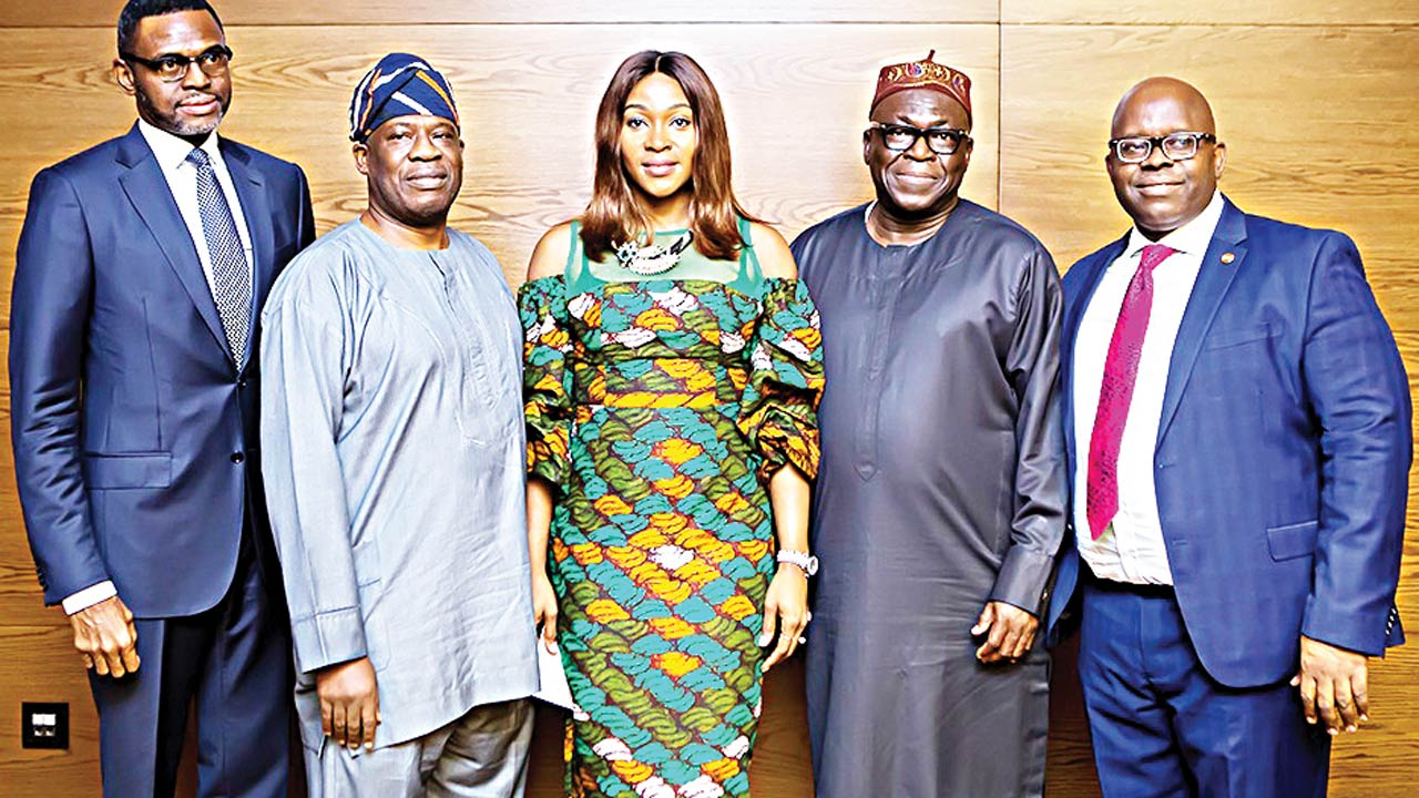 Principal Partner, Kunle Omotola and Company,Kunle Omotola (left); Chairman, Advisory Board, RealEstate Unite, Peter Bamkole; CEO, 3Invest Limited, Ruth Obih; Special Adviser to Minister on Housing, Abiodun Oki and Managing Director, UPDC, Hakeem Ogunniran during the Real Estate Unite conference organised by 3Invest Limited in Lagos