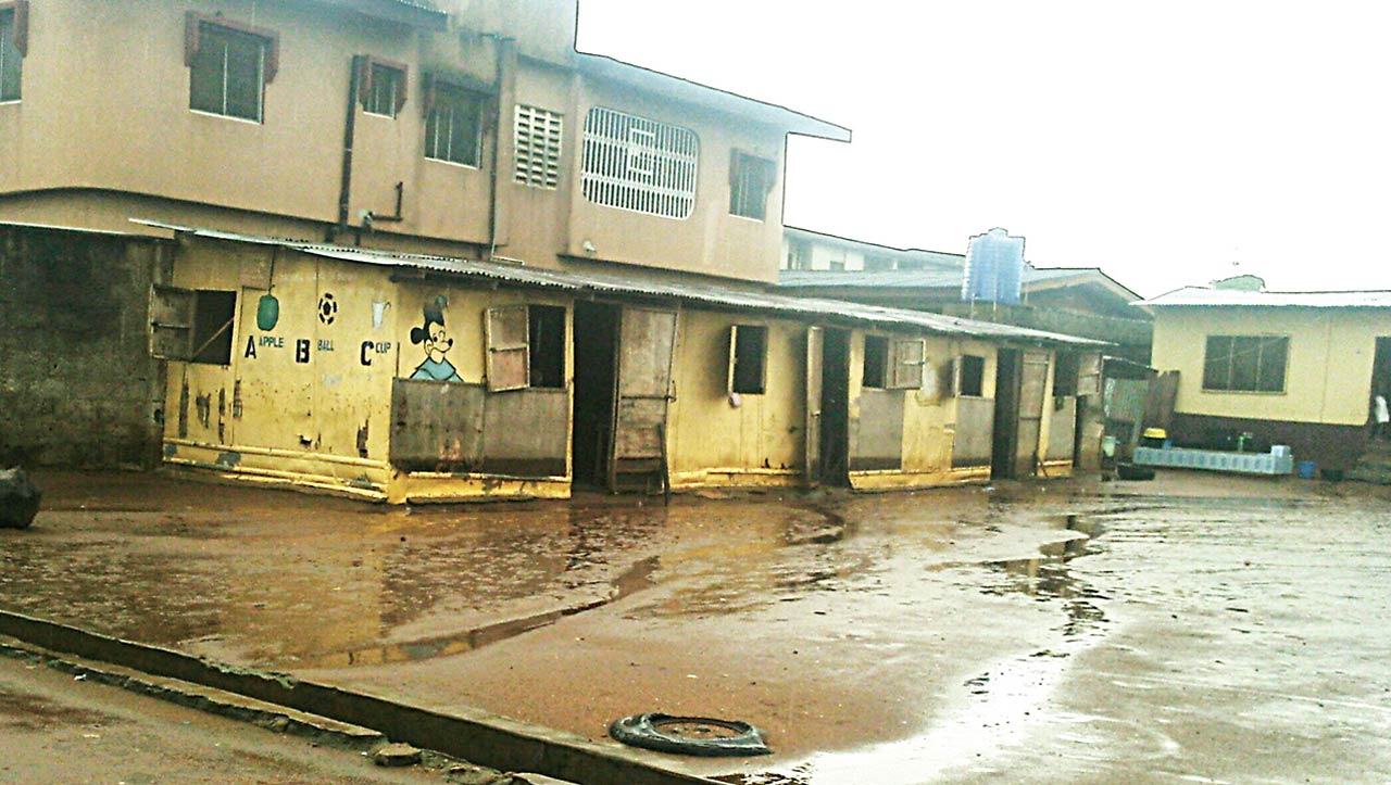 A private school without name or conducive environment for learning in Ijegun area of Lagos State PHOTOS: CHIAMAKA JACOBS