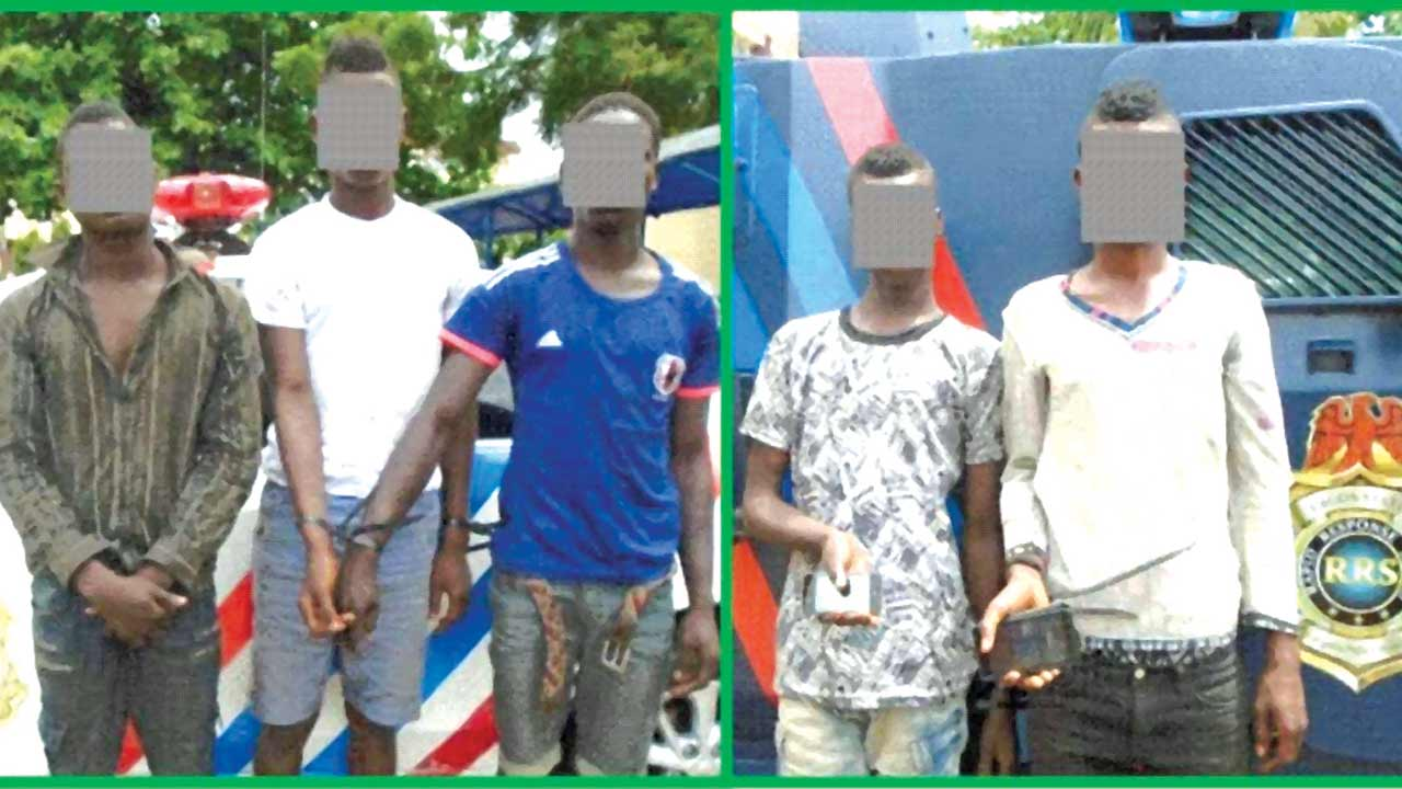 The suspected teenage robbers