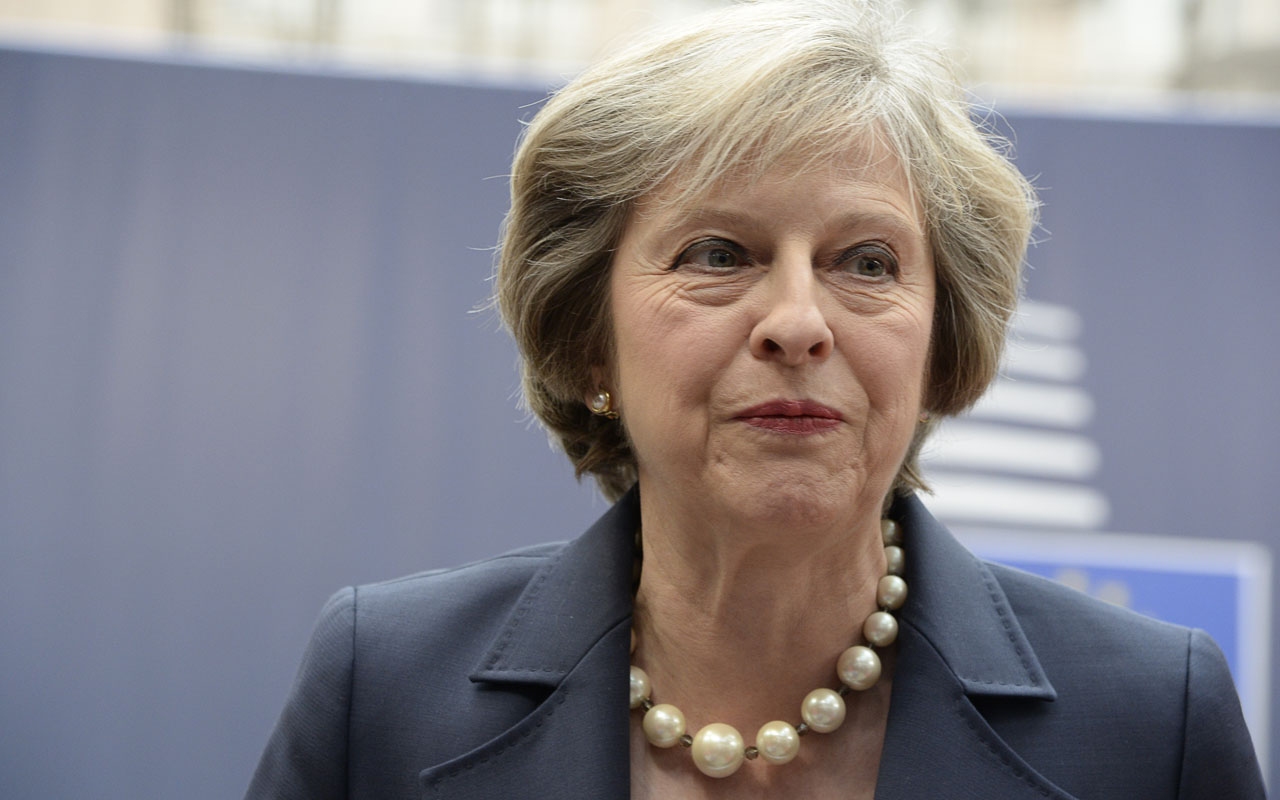 Britain's Prime minister Theresa May / AFP PHOTO / THIERRY CHARLIER