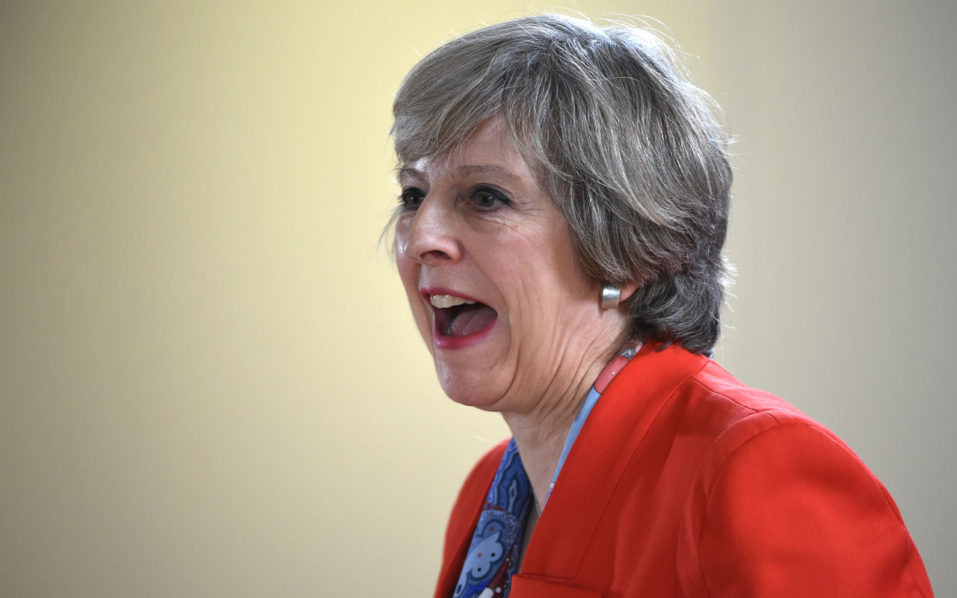 British Prime minister Theresa May/ AFP PHOTO / STEPHANE DE SAKUTIN