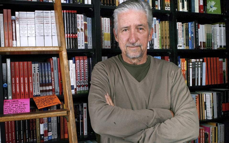 "former US senator and author Tom Hayden posing before signing copies of his book, ""Ending The War in Iraq"" at Book Soup in Los Angeles, California.   Peace activist Tom Hayden, whose radical views were at the forefront of the anti-Vietnam War movement in the 1960s, has died, on October 23, 2016 at the age of 76. Hayden's wife, Canadian actress and author Barbara Williams, told CNN that he died late Sunday at the UCLA Medical Center in Santa Monica, California, from complications related to a 2015 stroke. He is also survived by the couple's son, Liam.  / AFP PHOTO / GETTY IMAGES NORTH AMERICA / Michael Buckner"