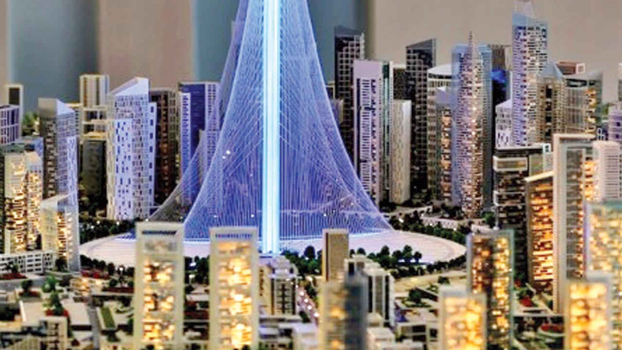 A model of the planned Dubai tower, which will be taller than the Burj Khalifa [Photo by AP Photo/Kamran Jebreili]