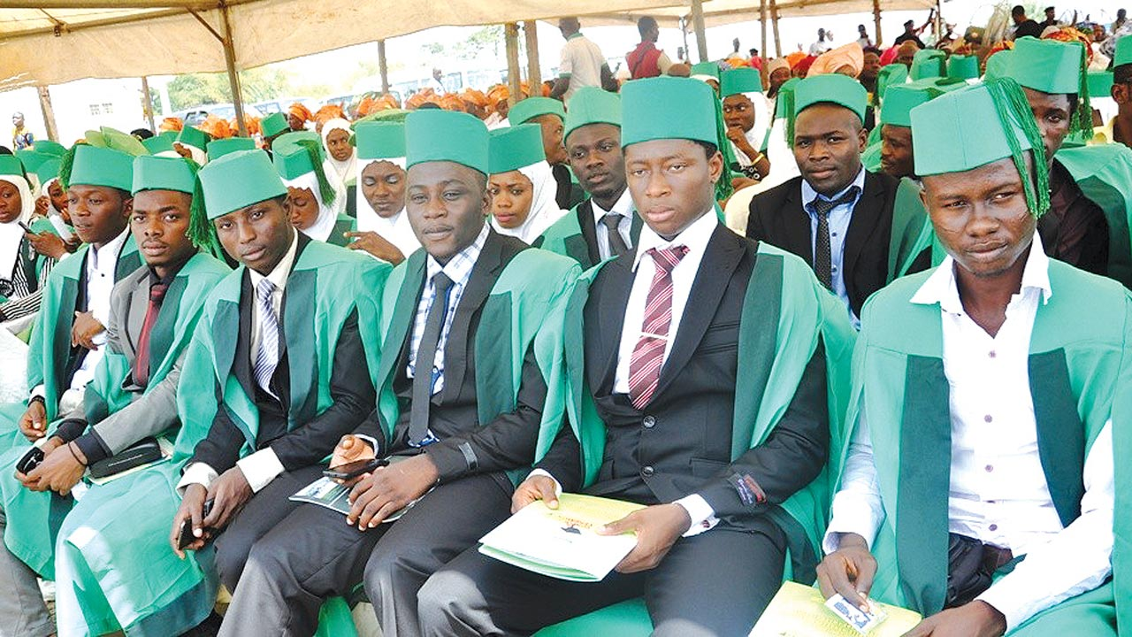 A cross section of Nigerian students