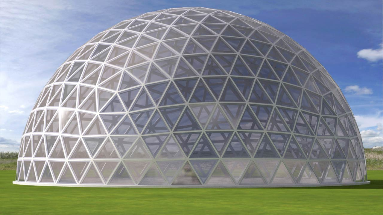 3d model geodesic dome