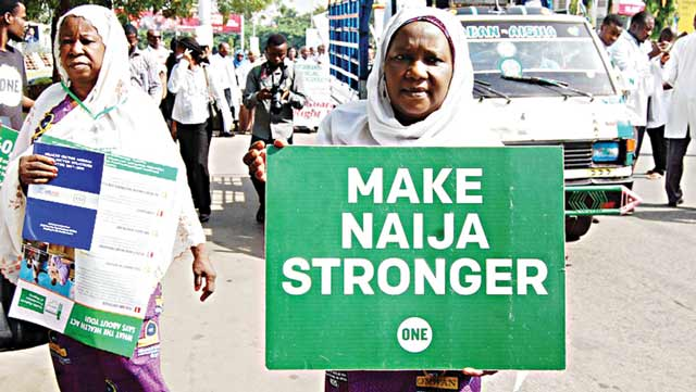 Members of Nigeria Medical Association (NMA) during their protest, calling for the implementation of National Health Act in Abuja…yesterday  							                                                                       PHOTO: LUCY LADIDI ELUKPO