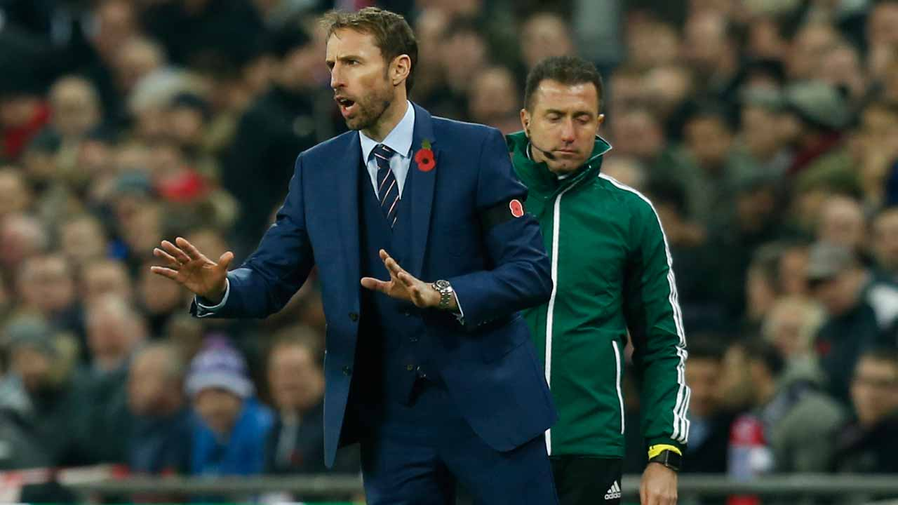 England's Interim manager Gareth Southgate gestures during a World Cup 2018 qualification match between England and Scotland at Wembley stadium in London on November 11, 2016. PHOTO: Ian Kington / AFP