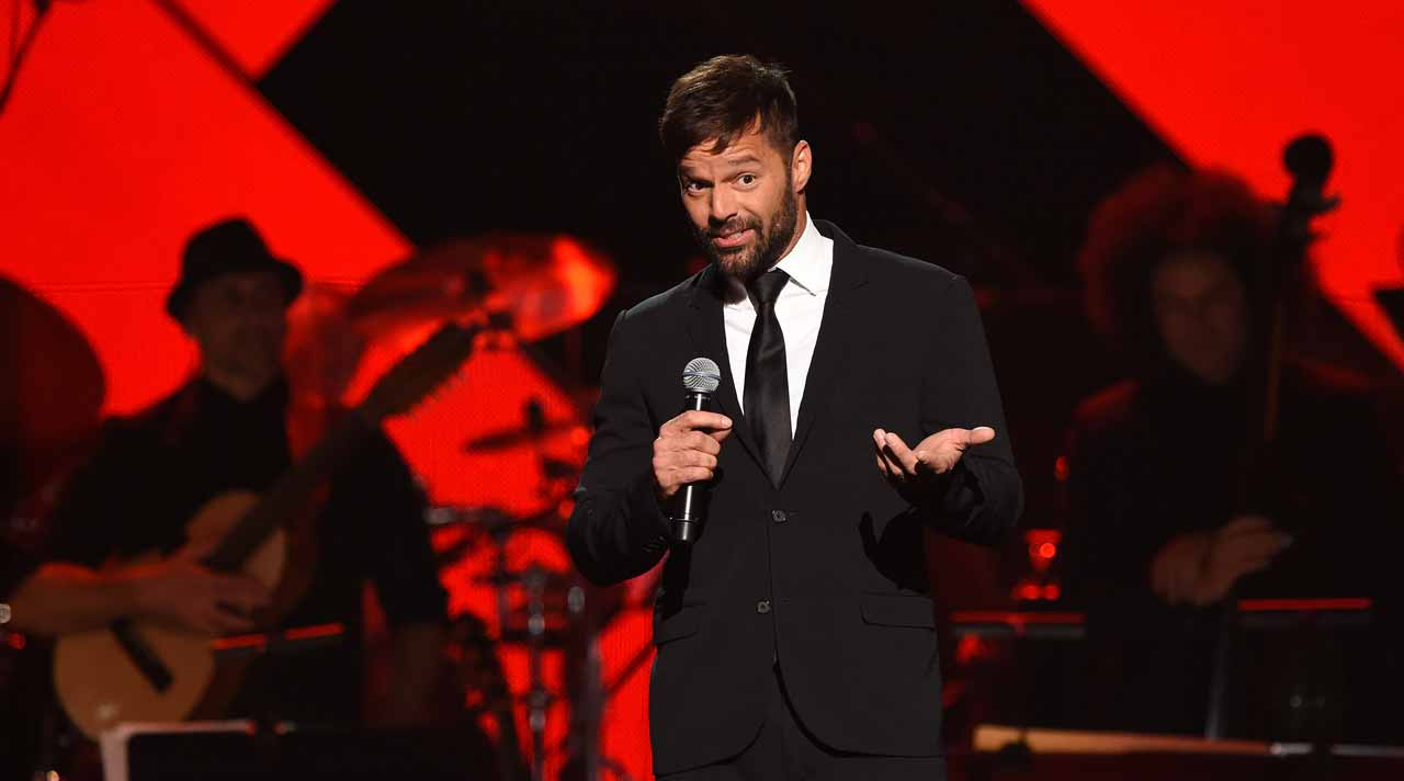 Ricky Martin speaks during the show for the 2016 Latin GRAMMY's Person Of The Year honoring Marc Anthony at the MGM Grand on November 16, 2016 in Las Vegas, Nevada. Valerie MACON / AFP