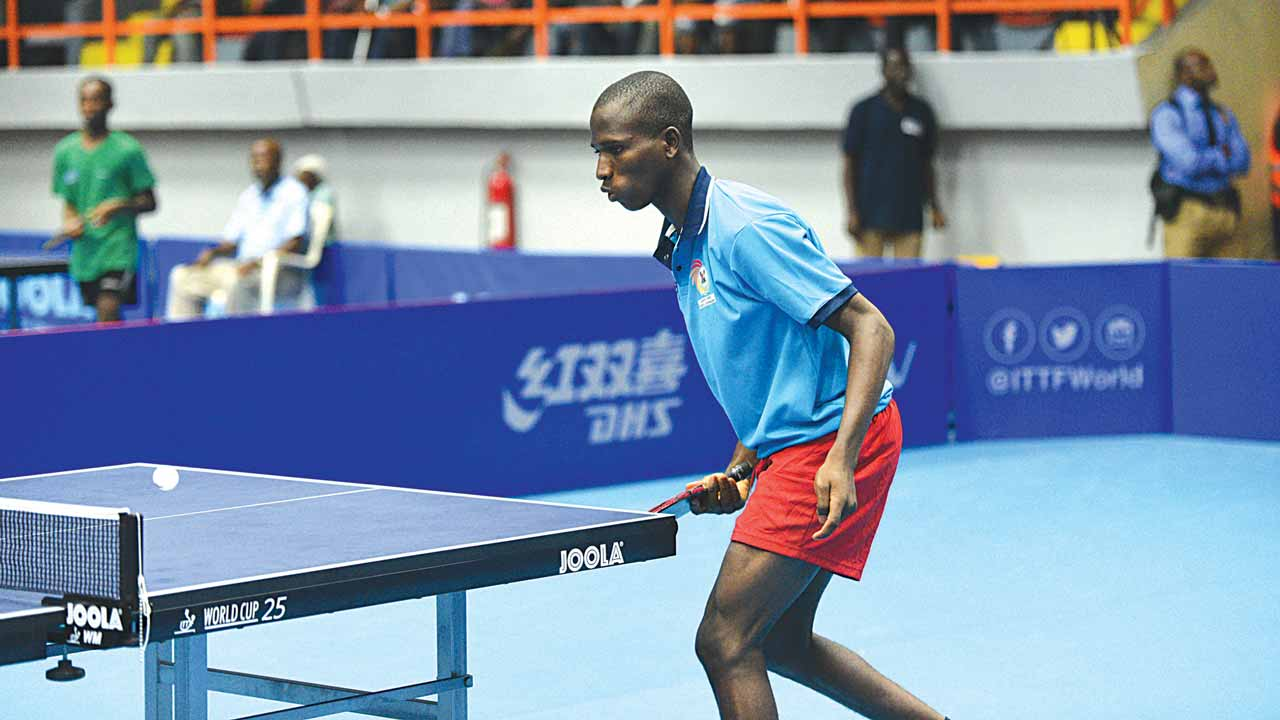 Winner of the table tennis singles' males' event at the 48th Asoju Oba Molade-Okoya Thomas Cup tournament, Rilwan Akanbi