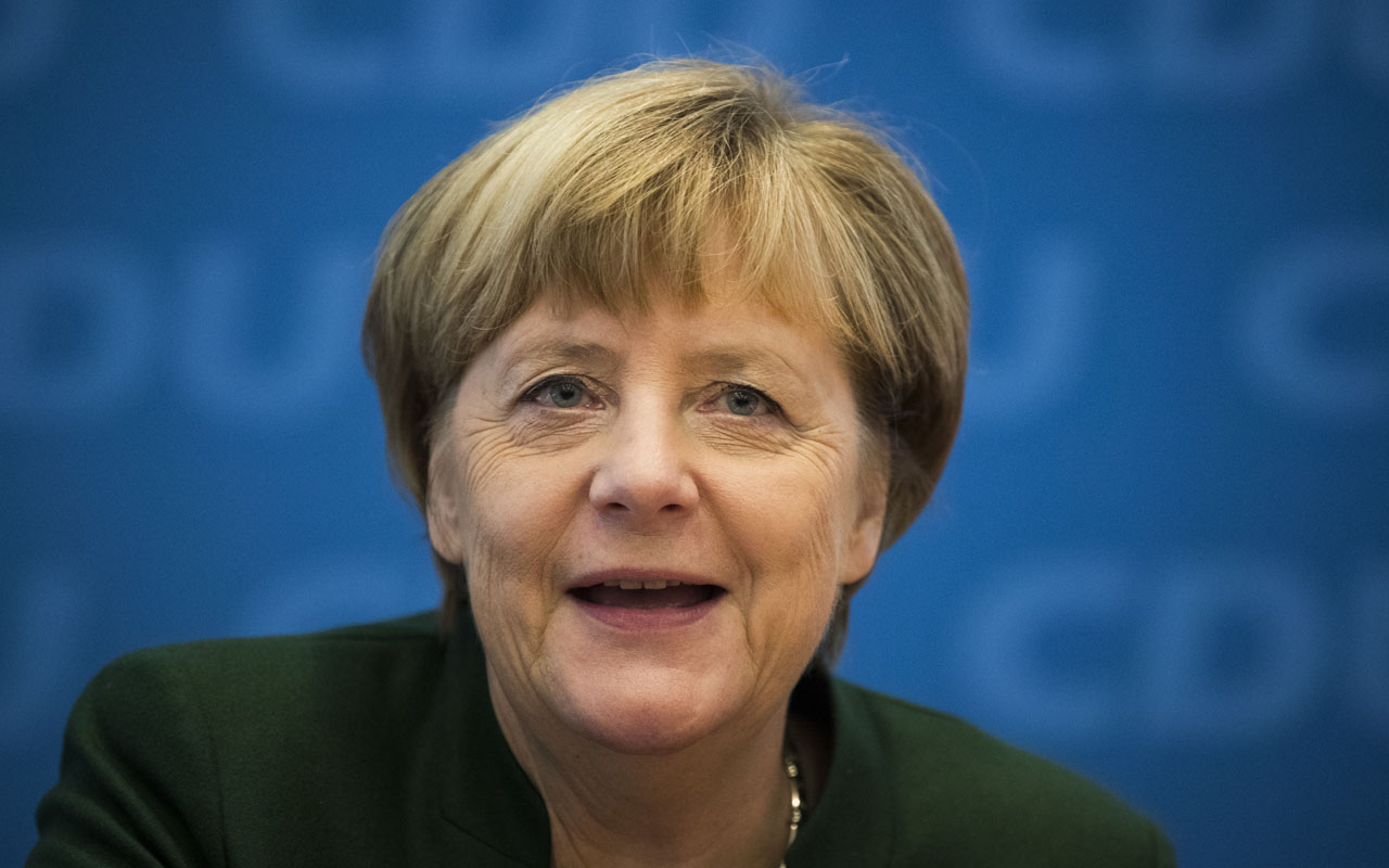 German Chancellor Angela Merkel   / AFP PHOTO / Odd ANDERSEN / ""