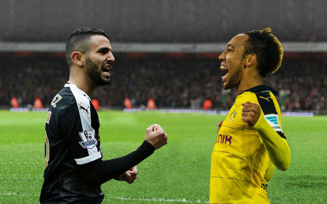 Both Pierre-Emerick Aubameyang and  Riyad Mahrez lead pack of five shortlisted players for the award.