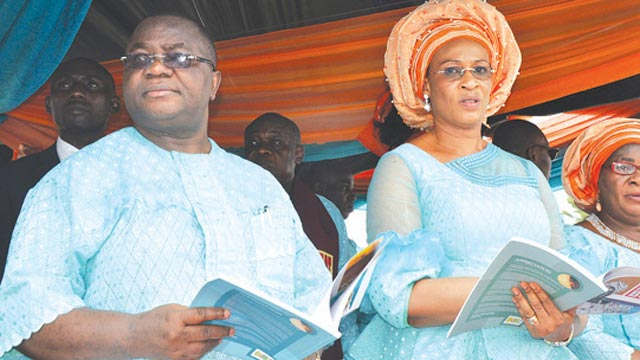 Senator Effiong Bob and wife, Comfort