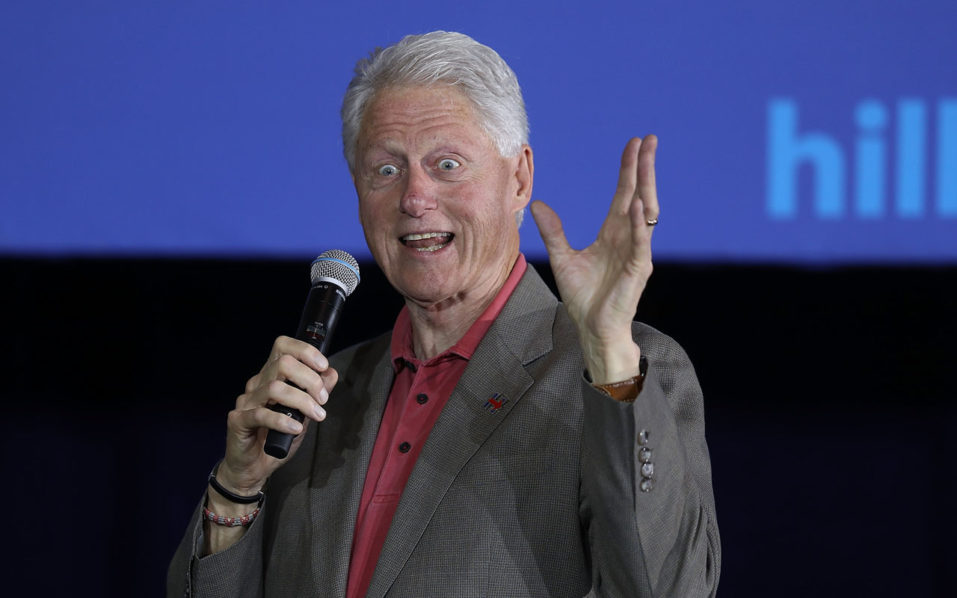 Fromer president Bill Clinton. Joe Raedle/Getty Images/AFP