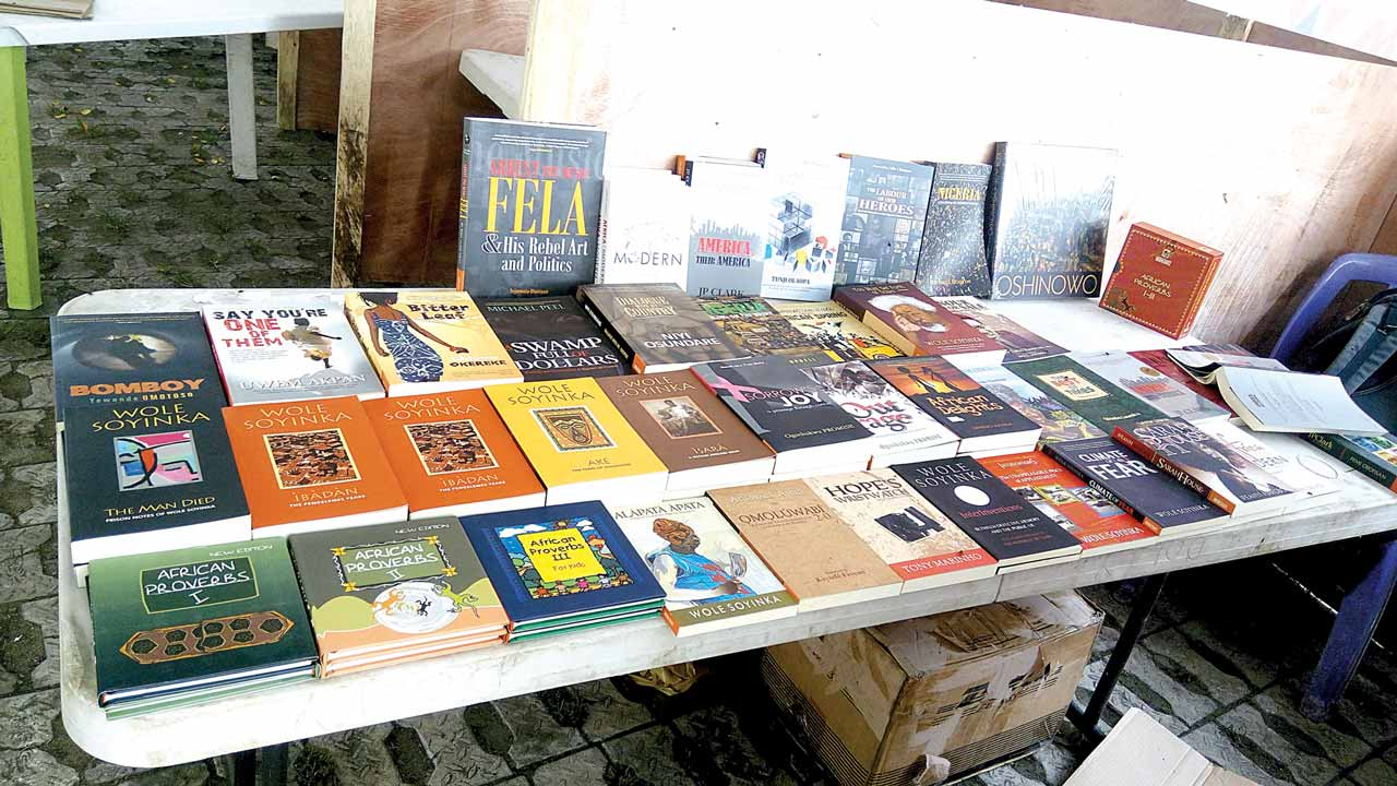 One of the books stand at the festival