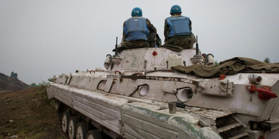 The UN peacekeepers were struck as they were exercising/Phil Moore (AFP/File)