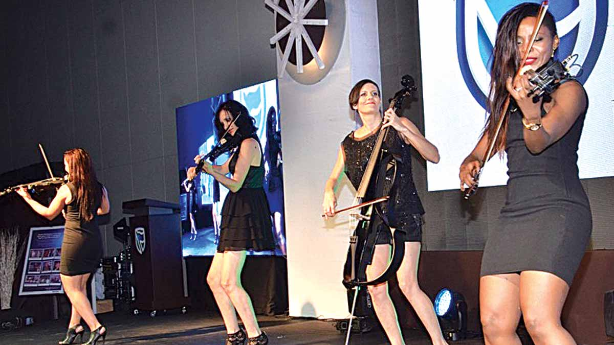 All-girl band, The Muzes performing at the event.
