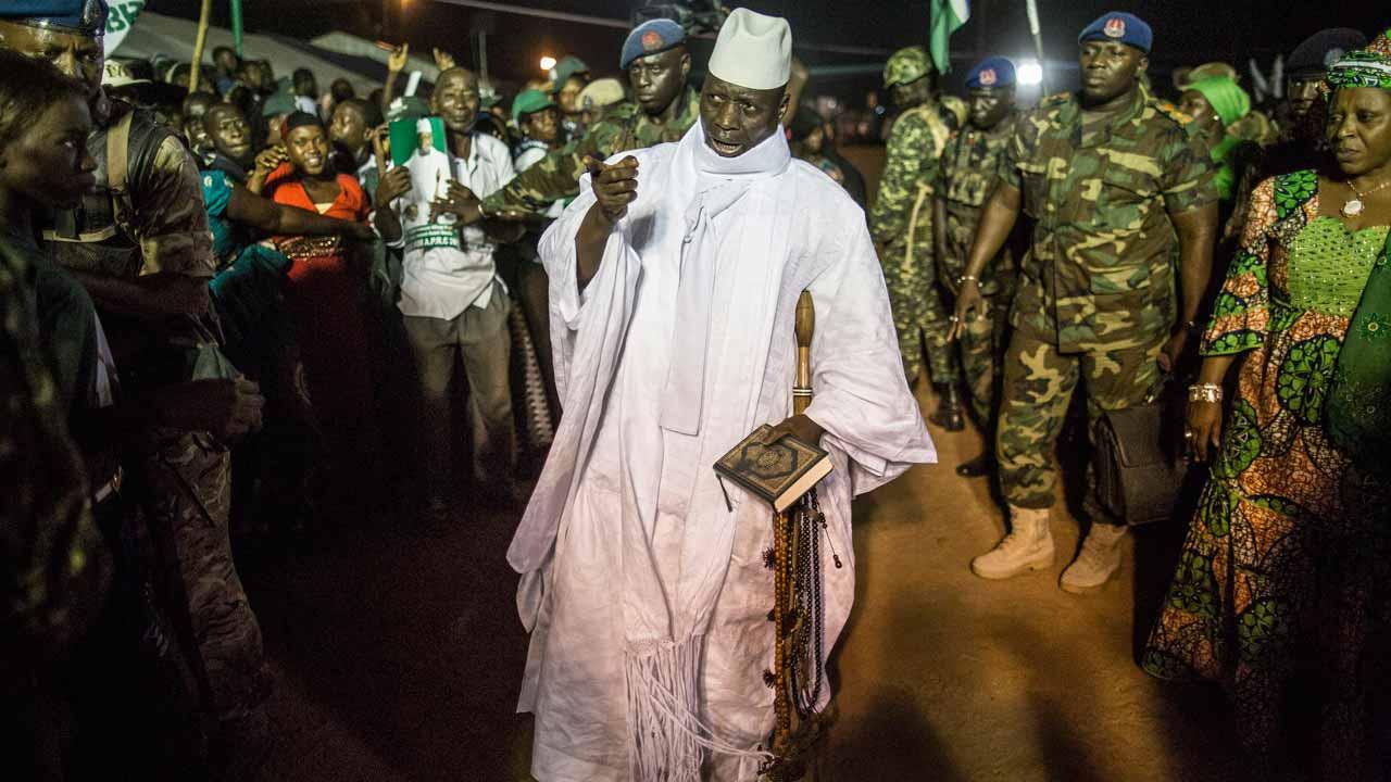 Incumbent Gambian President Yahya Jammeh, / MARCO LONGARI / AFP