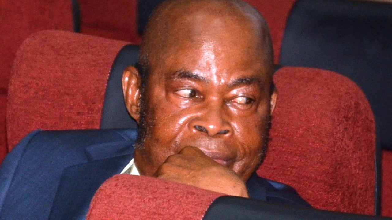 Justice Sylvester Ngwuta during his arraignment at the   Federal High Court in Abuja on Monday, November 21, 2016. PHOTO: LUCY LADIDI ELUKPO