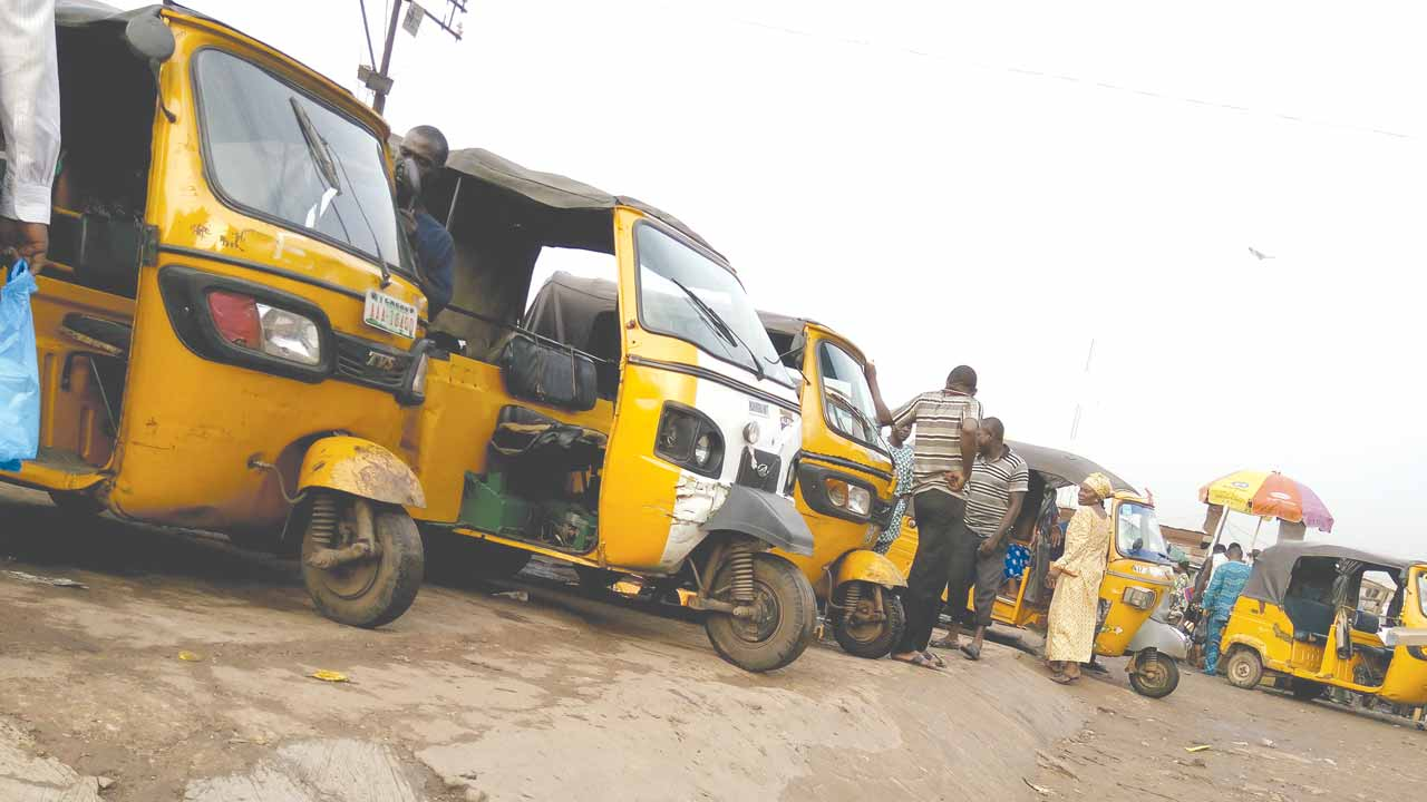 Commercial tricycles . PHOTO: AYODELE ADENIRAN