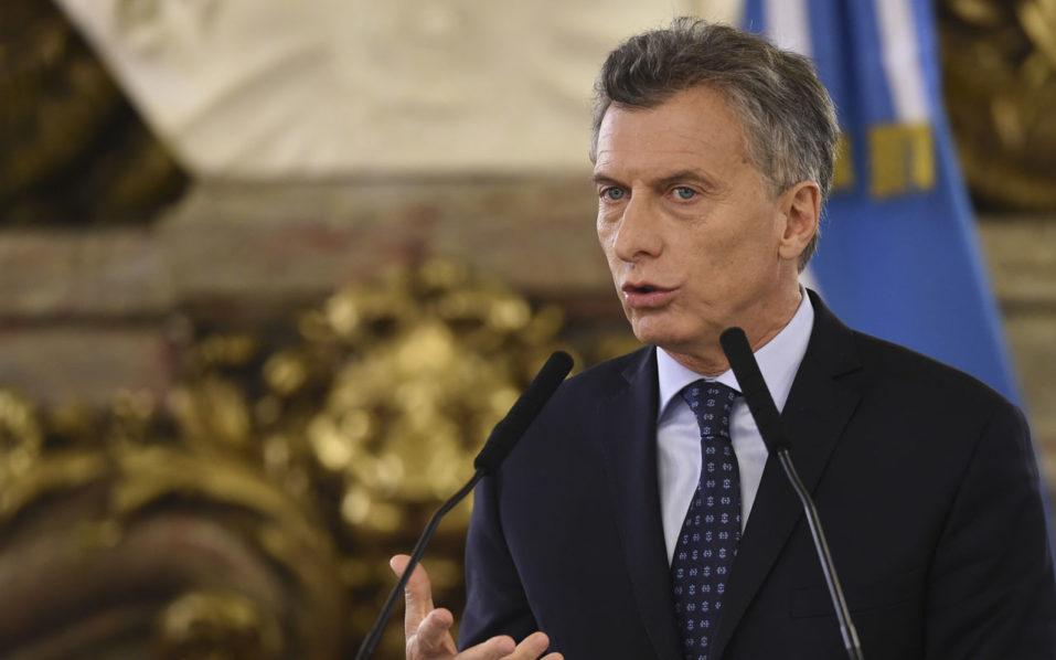 Argentine President Mauricio Macri / AFP PHOTO / EITAN ABRAMOVICH