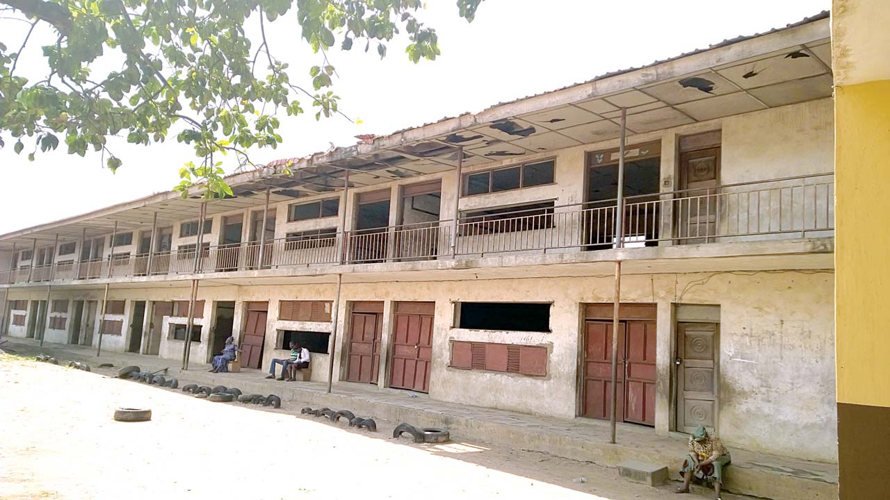 A dilapidated Methodist Public Nursery and Primary School, Papa Ajao, Mushin, Lagos State PHOTO: ENO-ABASI SUNDAY