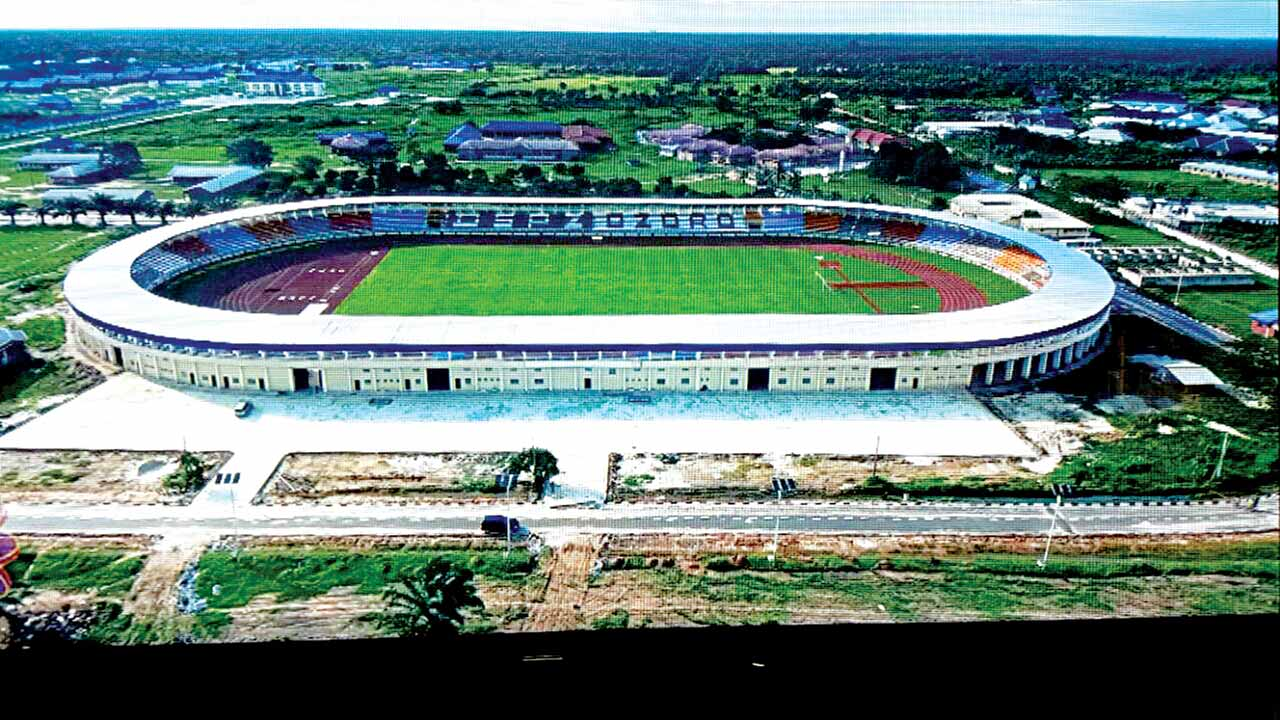 The 14,000 capacity Ozoro Polytechnic Stadium, which will be commissioned by Delta State Governor, Arthur Ifeanyi Okowa… on December 1, 2016.