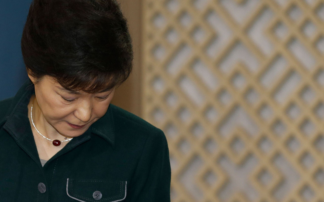 South Korea's President Park Geun-Hye.     AFP PHOTO / POOL / Lee Jae-Won