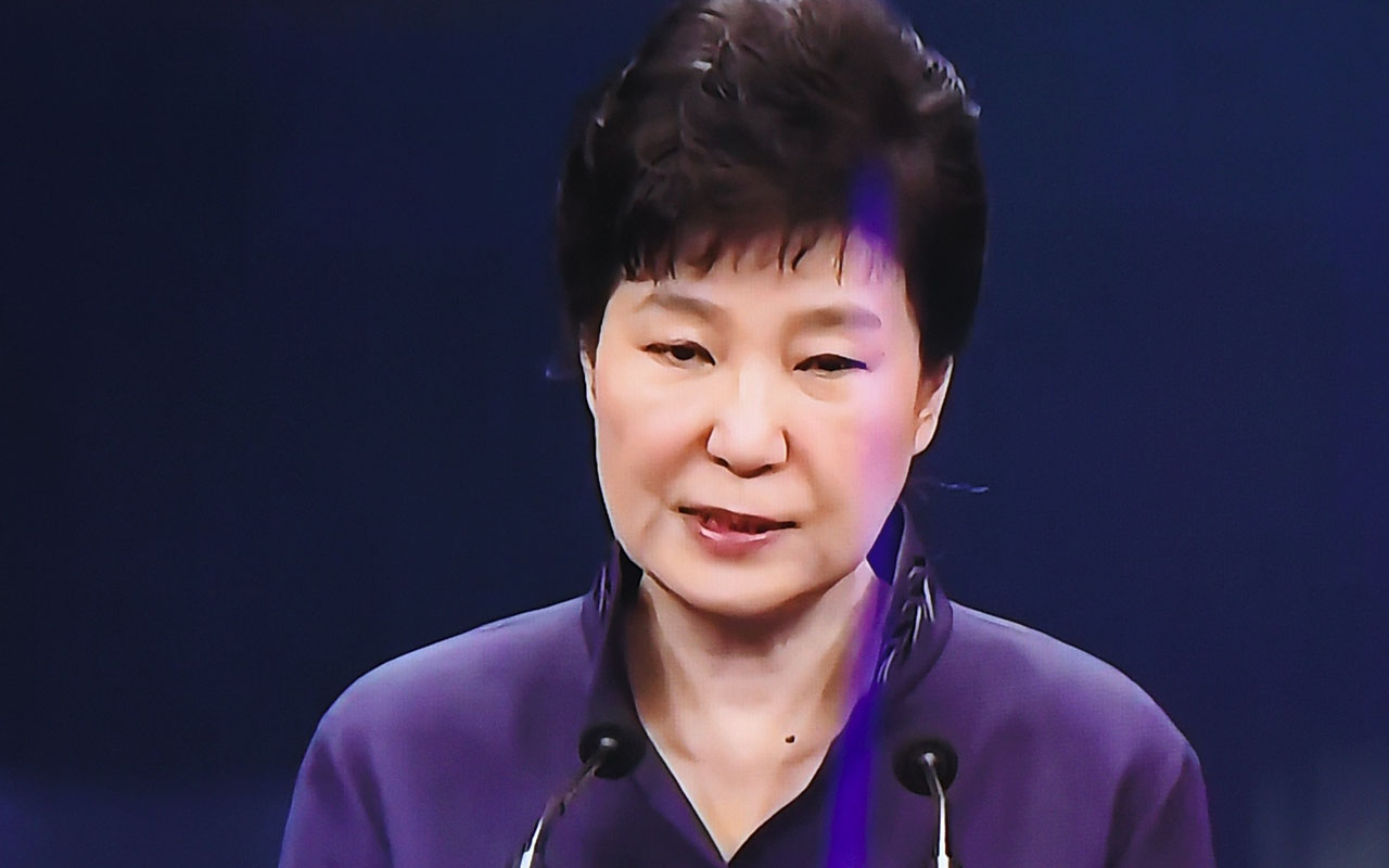 Park Geun-Hye. / AFP PHOTO / JUNG YEON-JE