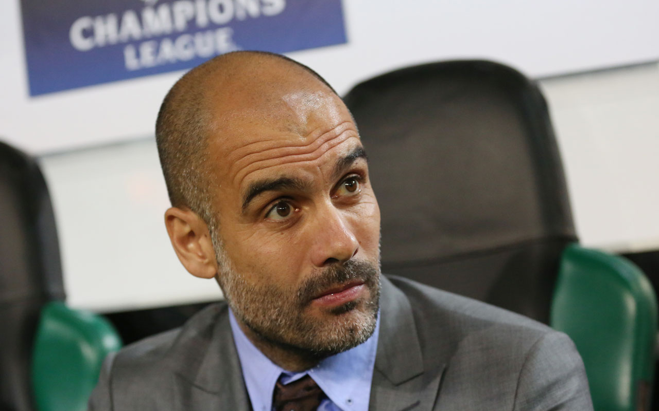 Manchester City's Spanish manager Pep Guardiola. / AFP PHOTO / dpa / Maja Hitij / Germany OUT