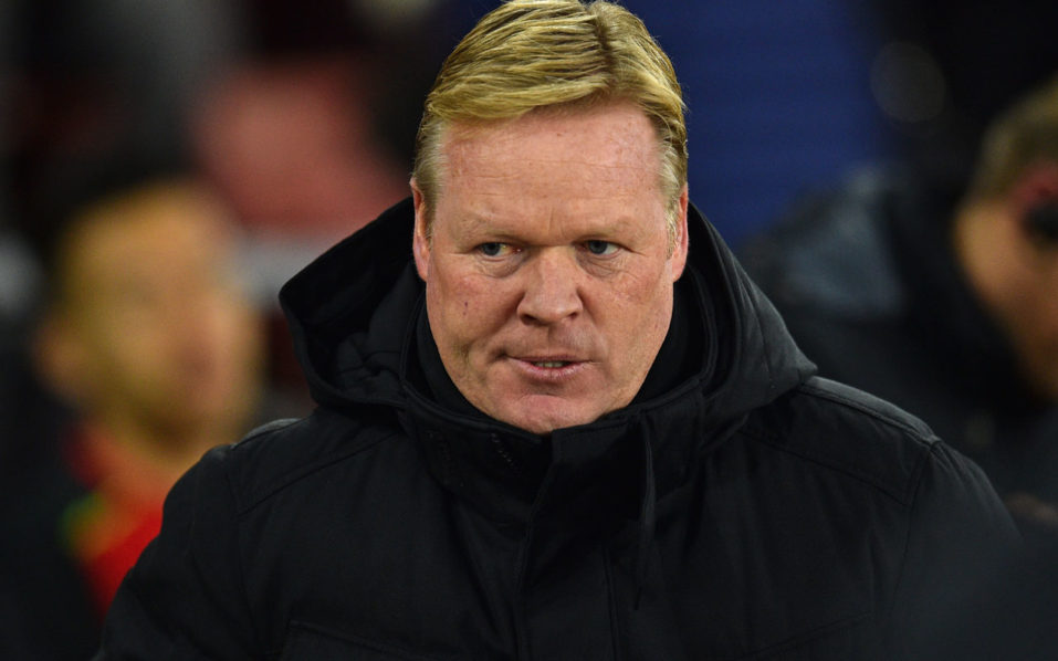 Everton's Dutch manager Ronald Koeman arrives for the English Premier League football match between Southampton and Everton at St Mary's Stadium in Southampton, southern England on November 27, 2016. / AFP PHOTO / Glyn KIRK /