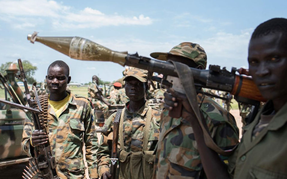 South Sudan descended into war in December 2013 after President Salva Kiir accused his former deputy Machar of plotting a coup (AFP Photo/Charles Atiki Lomodong)