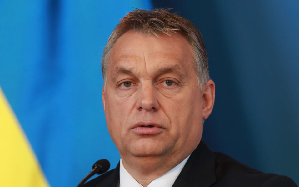 Hungarian Prime Minister Viktor Orban.  / AFP PHOTO / FERENC ISZA