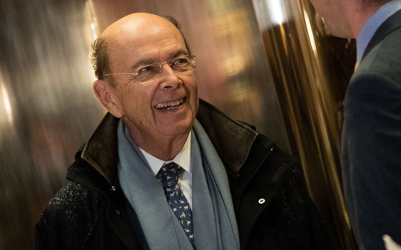 Wilbur Ross, President-elect Donald Trump's choice for Commerce Secretary, arrives at Trump Tower, November 29, 2016 in New York City. President-elect Donald Trump and his transition team are in the process of filling cabinet and other high level positions for the new administration. Drew Angerer/Getty Images/AFP