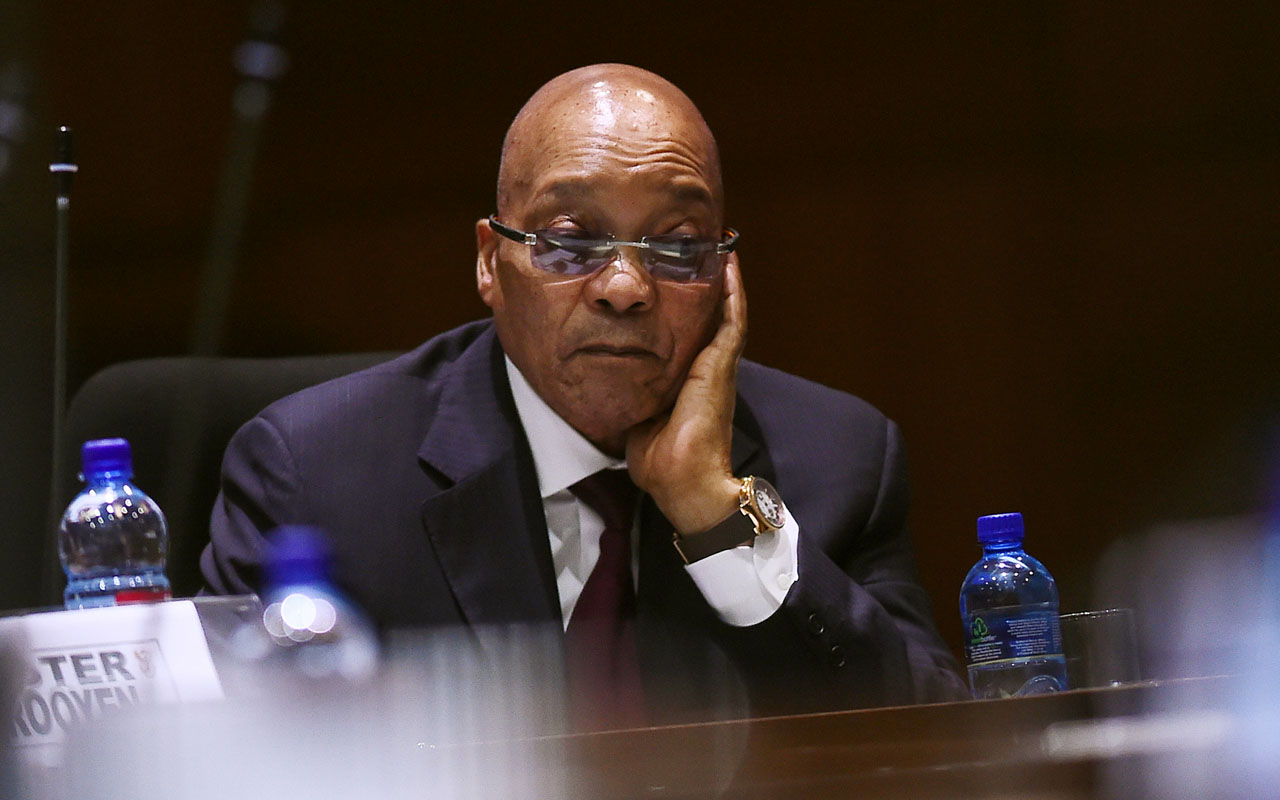 South African President Jacob Zuma. / AFP PHOTO / STRINGER