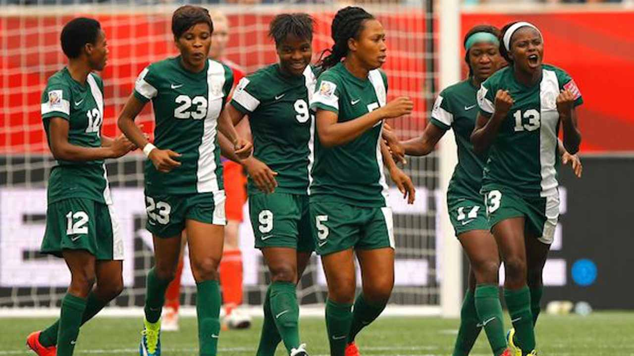 Super Falcons celebrate victory against Senegal in the qualifiers for Cameroon 2016. They will face Mali in their opening game of Group B on Sunday at the Stade Municipal de Limbe.
