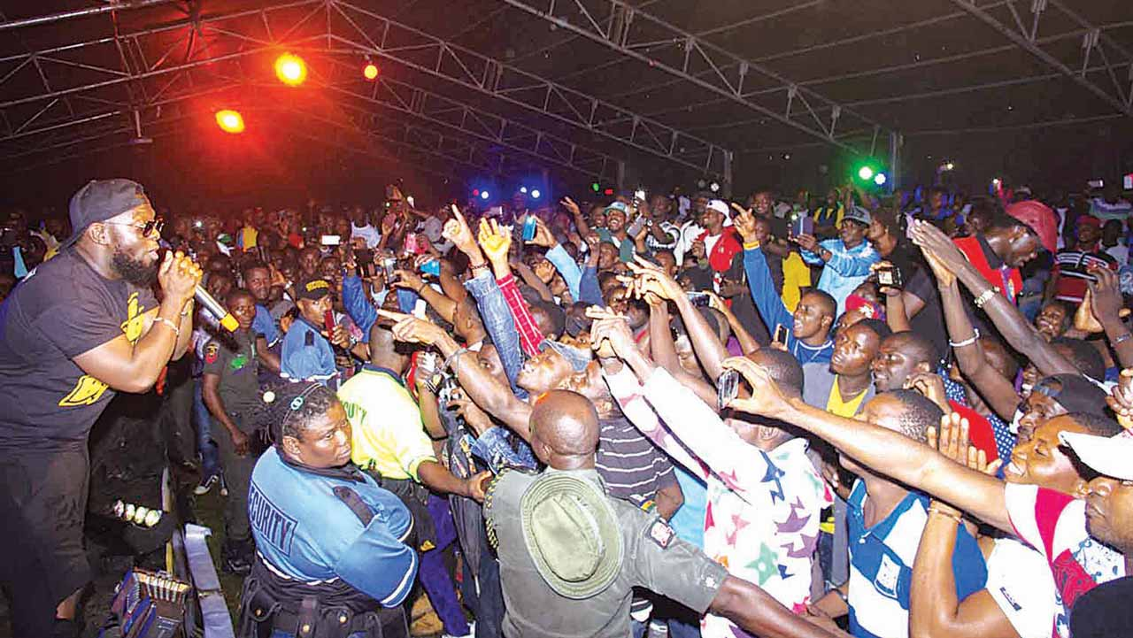Timaya performing at the Real Deal Experience concert.