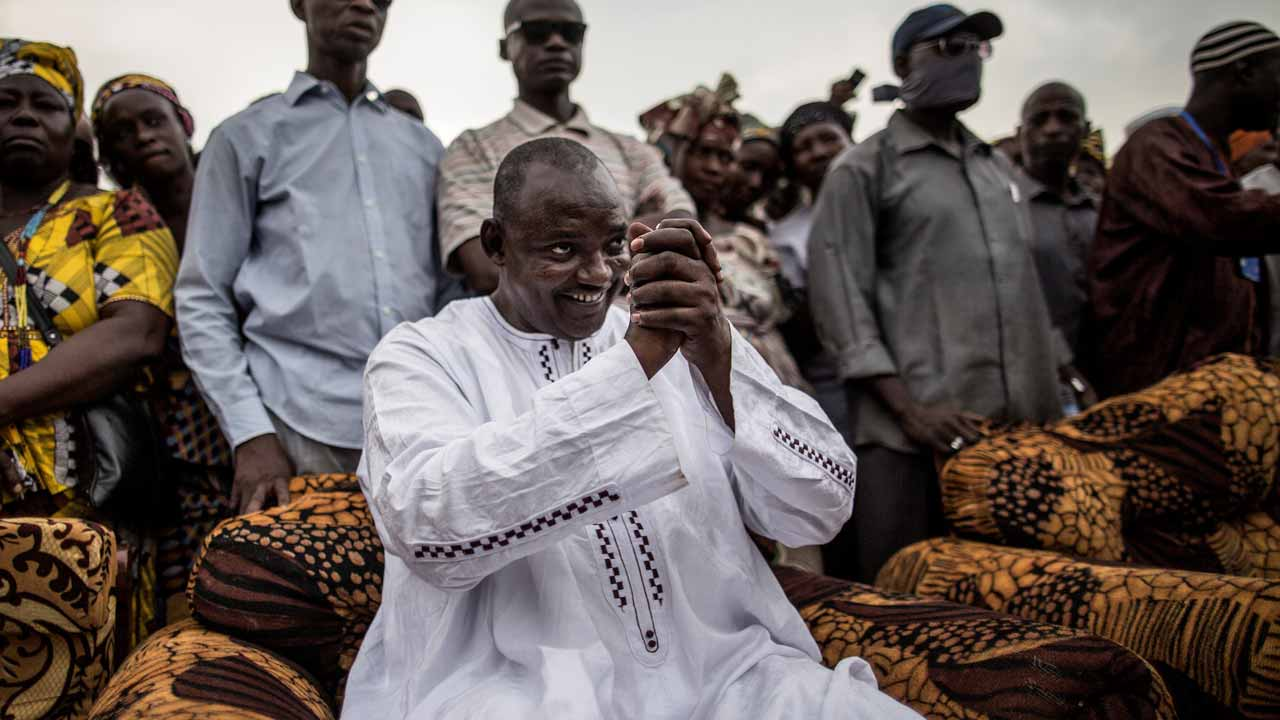 Adama Barrow. PHOTO: MARCO LONGARI / AFP